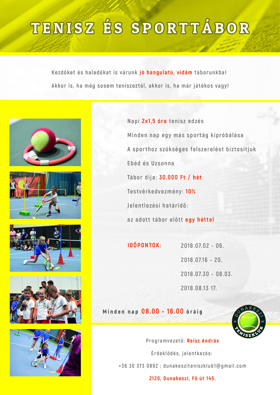 Tenisz és Sporttábor
